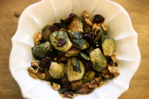 Agave Roasted Brussels Sprouts